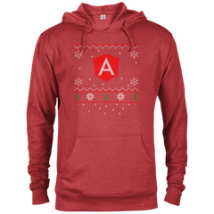 Angular Programming Ugly Sweater Christmas Holiday Comfort-Fit Hoodie - Bitcoin & Bunk