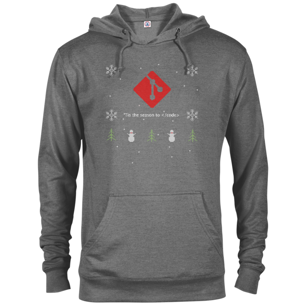 Git Programming 'Tis The Season To Code Ugly Sweater Holiday Comfort-Fit Hoodie