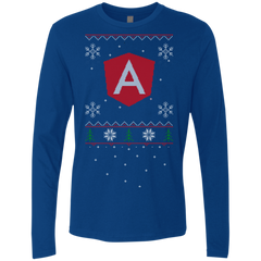 Angular Programming Ugly Sweater Premium Long Sleeve Christmas Holiday Shirt - Bitcoin & Bunk
