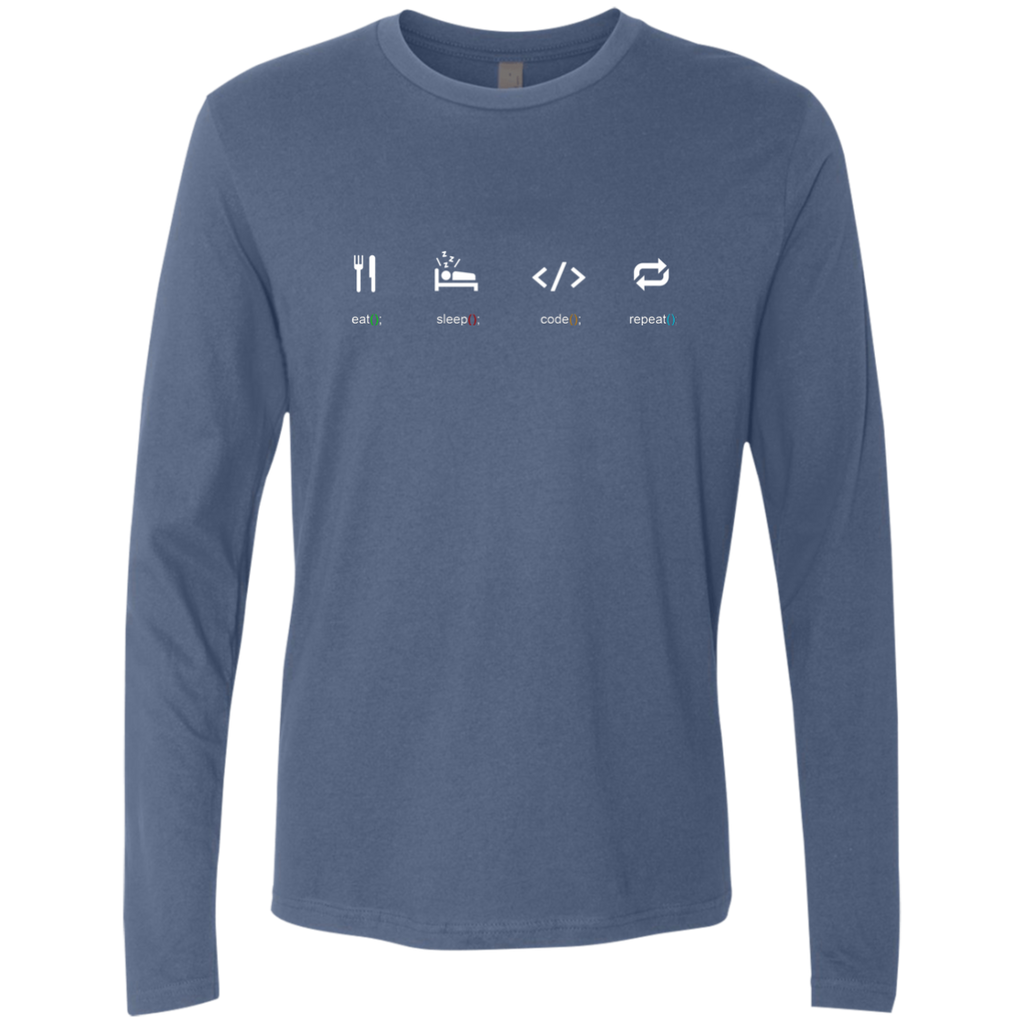 Eat Sleep Code Repeat Premium Long Sleeve Shirt