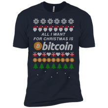 "Load image into Gallery viewer, Copy of ""All I want for Christmas is Bitcoin"" Men's Premium T-Shirt - Bitcoin & Bunk"