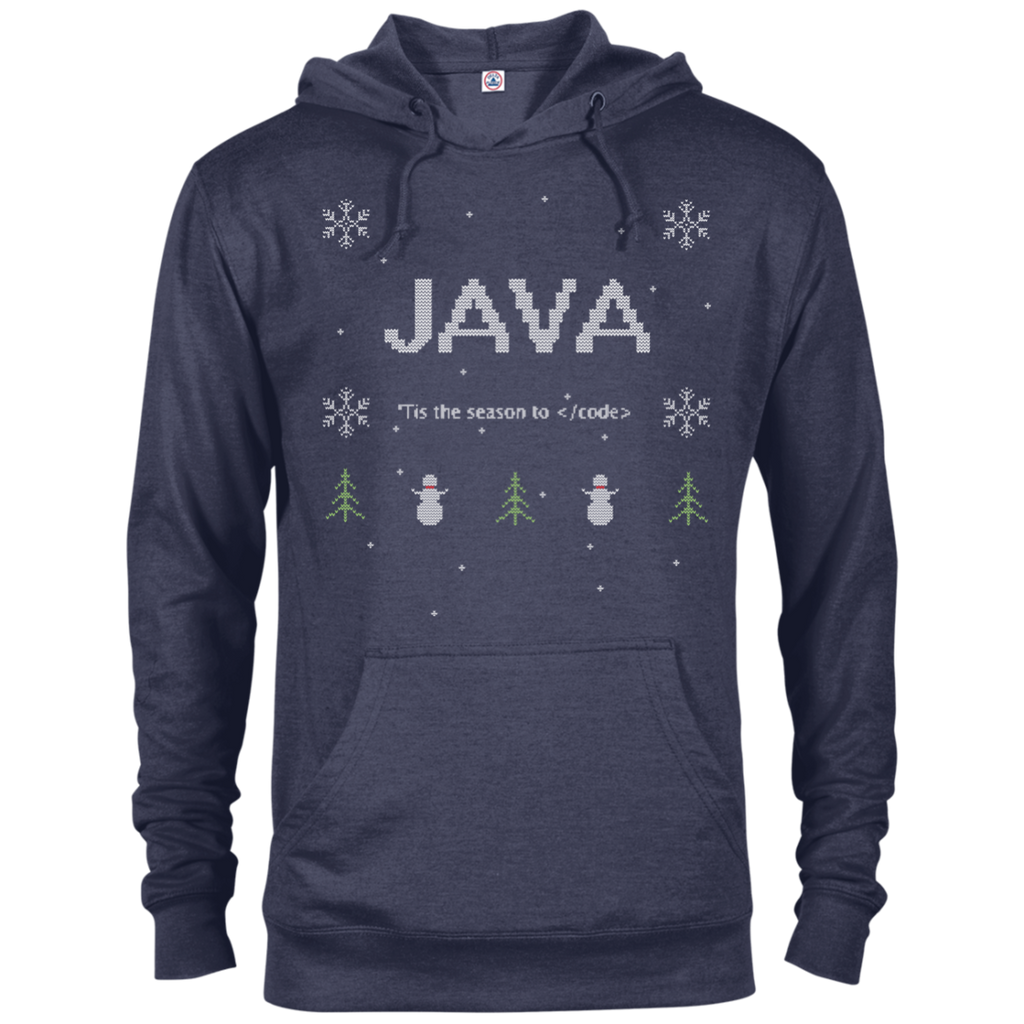 Java Programming 'Tis The Season To Code Ugly Sweater Holiday Comfort-Fit Hoodie - Bitcoin & Bunk