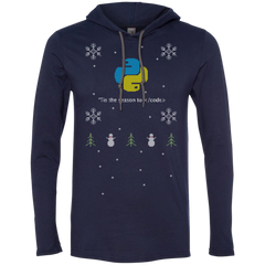 Python 'Tis The Season To Code Premium Hooded Shirt - Bitcoin & Bunk
