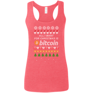 """All I want for Christmas is Bitcoin"" Women's Racerback Tank Top - Bitcoin & Bunk"