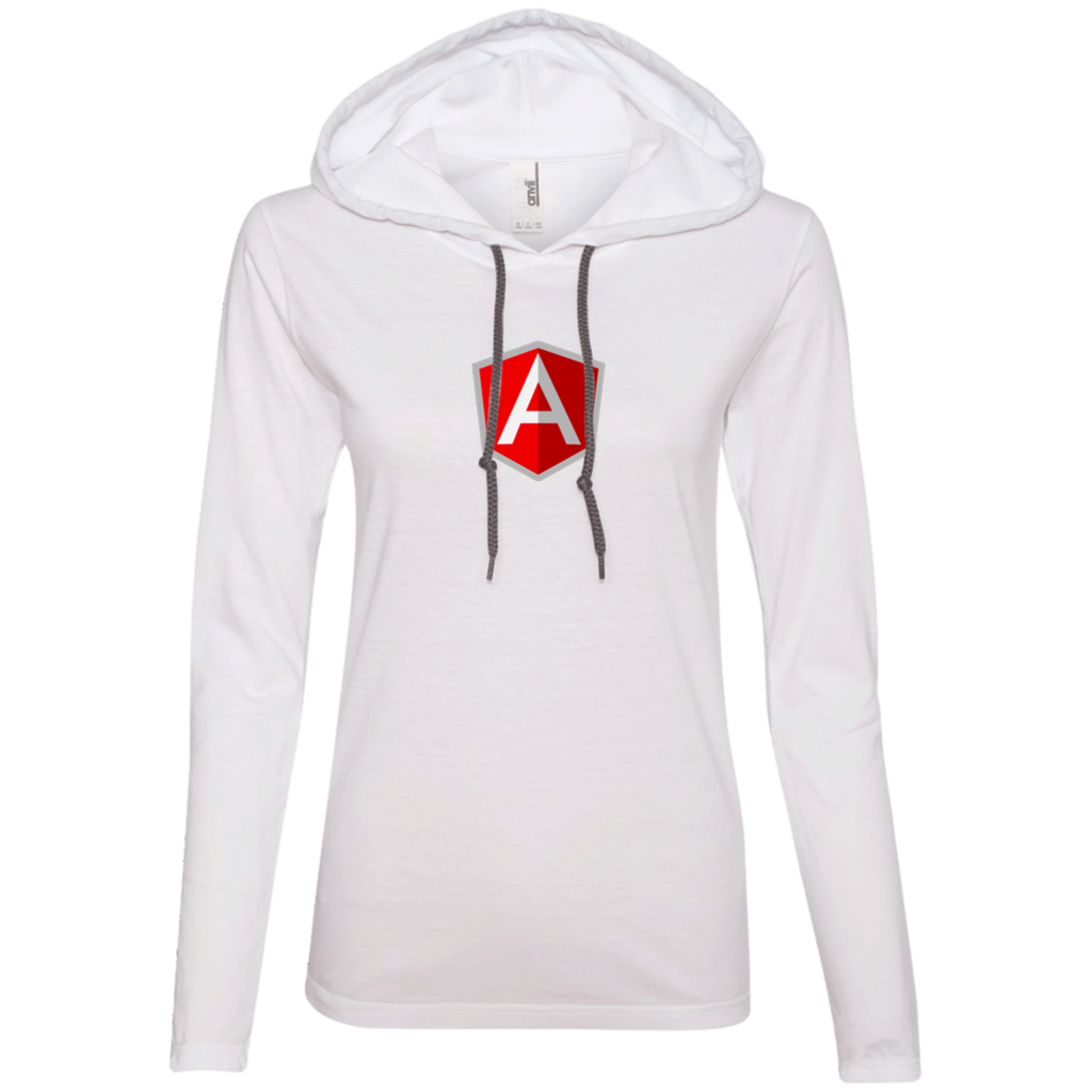 AngularJS Programming Authentic Women's Long Sleeve Hooded Shirt - Bitcoin & Bunk