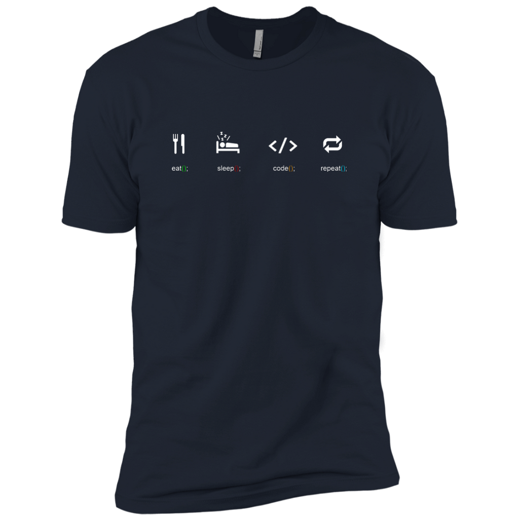 Eat Sleep Code Repeat Premium T-Shirt - Bitcoin & Bunk