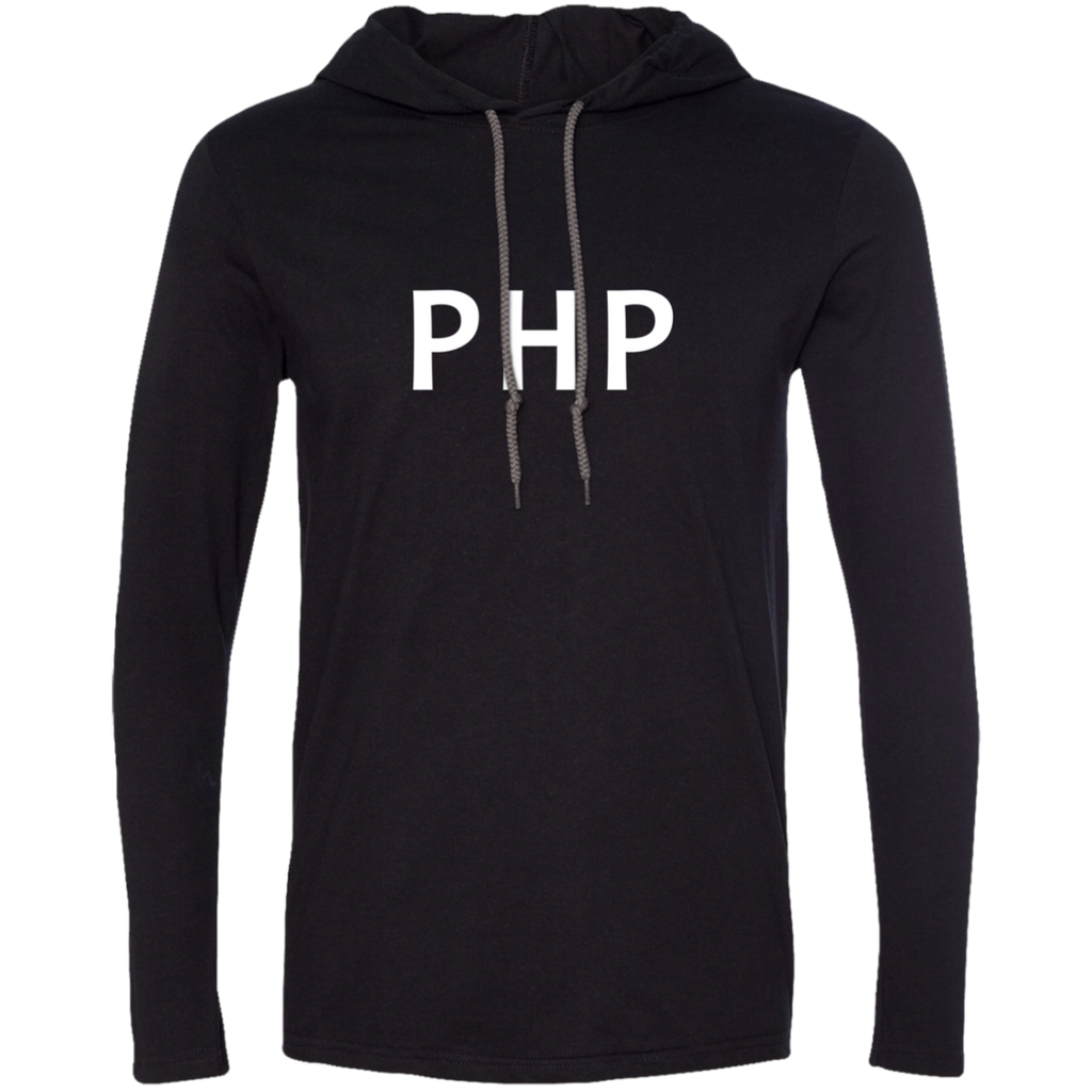 PHP Programming Authentic Premium Hooded Long Sleeve Shirt - Bitcoin & Bunk