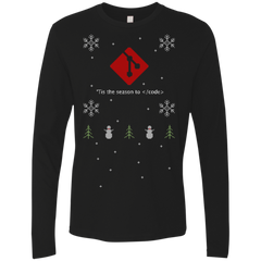 Git 'Tis The Season To Code Git Programming 'Tis The Season To Code Ugly Sweater Long Sleeve Premium Christmas Holiday Shirt - Bitcoin & Bunk