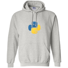 Python Programming Authentic Casual Light-Fit Hoodie - Bitcoin & Bunk