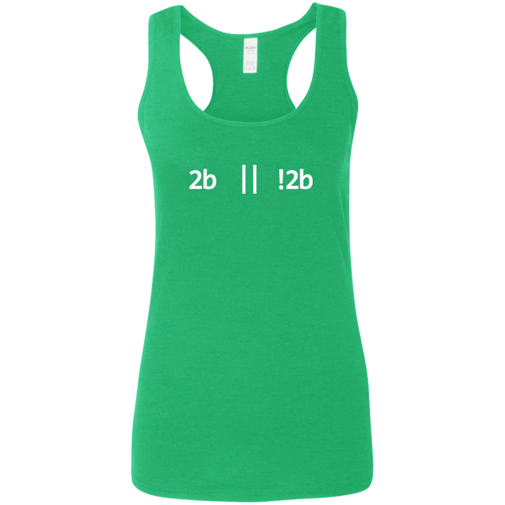 2b Or Not 2b Women's Comfort-Soft Racerback Tank Top