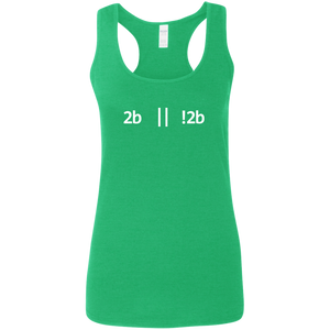 2b Or Not 2b Women's Comfort-Soft Racerback Tank Top - Bitcoin & Bunk
