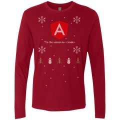 Angular 'Tis The Season To Code Angular Programming 'Tis The Season To Code Ugly Sweater Long Sleeve Premium Christmas Holiday Shirt - Bitcoin & Bunk