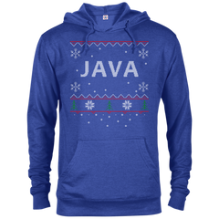 Java Programming Ugly Sweater Christmas Holiday Comfort-Fit Hoodie - Bitcoin & Bunk
