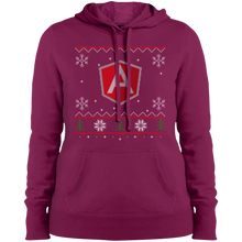 Load image into Gallery viewer, AngularJS Programming Women's Ugly Sweater Christmas Holiday Warm-Sport Hoodie - Bitcoin & Bunk