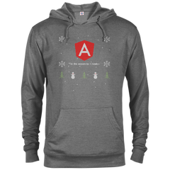 Angular Programming 'Tis The Season To Code Ugly Sweater Holiday Comfort-Fit Hoodie - Bitcoin & Bunk