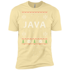Java Programming Ugly Sweater Premium Christmas Holiday T-Shirt - Bitcoin & Bunk