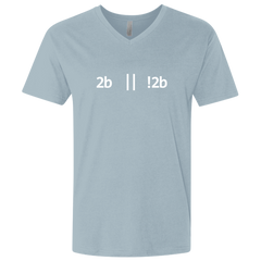 2b Or Not 2b Premium Fitted V-Neck T-Shirt