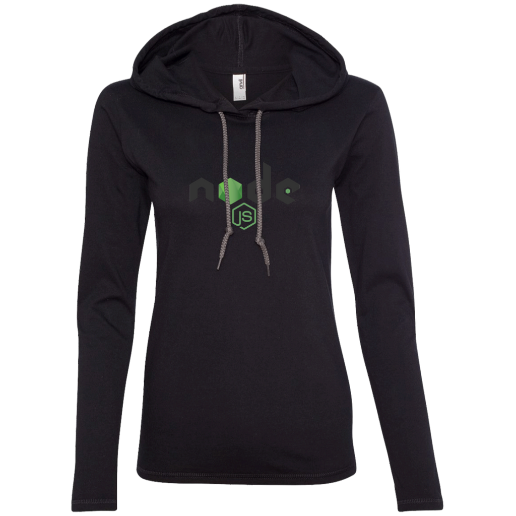 Node Programming Authentic Women's Long Sleeve Hooded Shirt - Bitcoin & Bunk