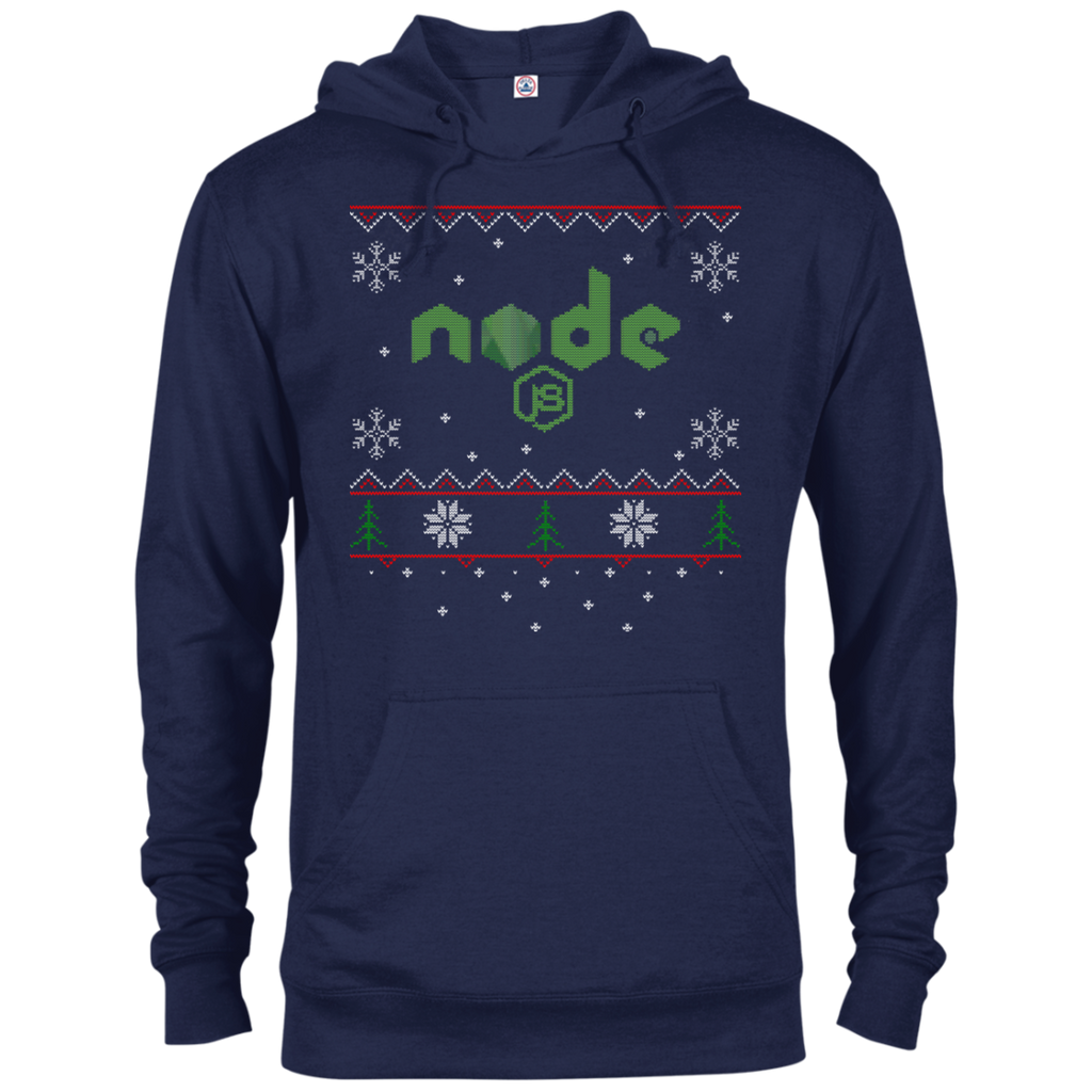 Node Programming Ugly Sweater Christmas Holiday Comfort-Fit Hoodie - Bitcoin & Bunk