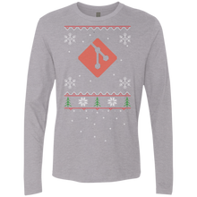 Load image into Gallery viewer, Git Programming Ugly Sweater Premium Long Sleeve Christmas Holiday Shirt - Bitcoin & Bunk