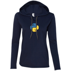 Python Programming Authentic Women's Long Sleeve Hooded Shirt - Bitcoin & Bunk
