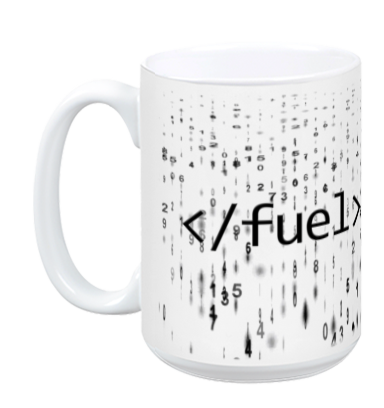 Code Fuel Coffee Mug - Matrix Style (White)