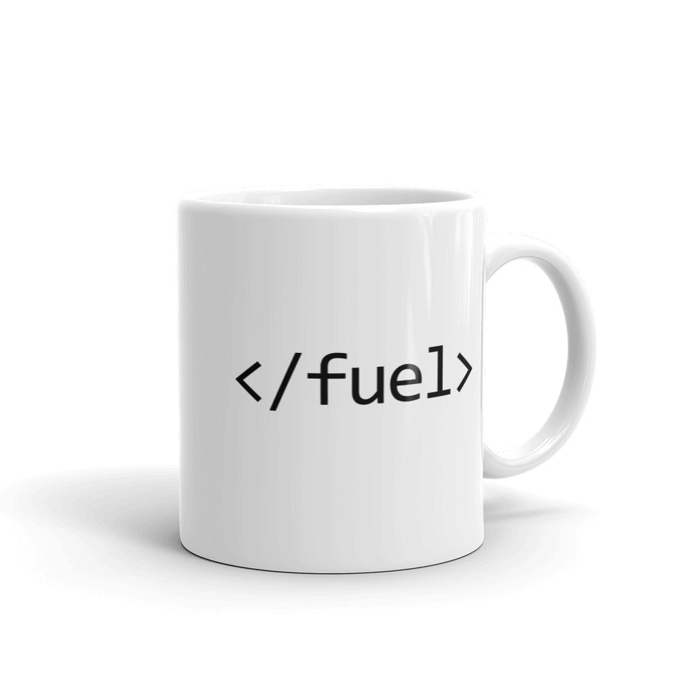 Code Fuel Coffee Mug (White) - Bitcoin & Bunk