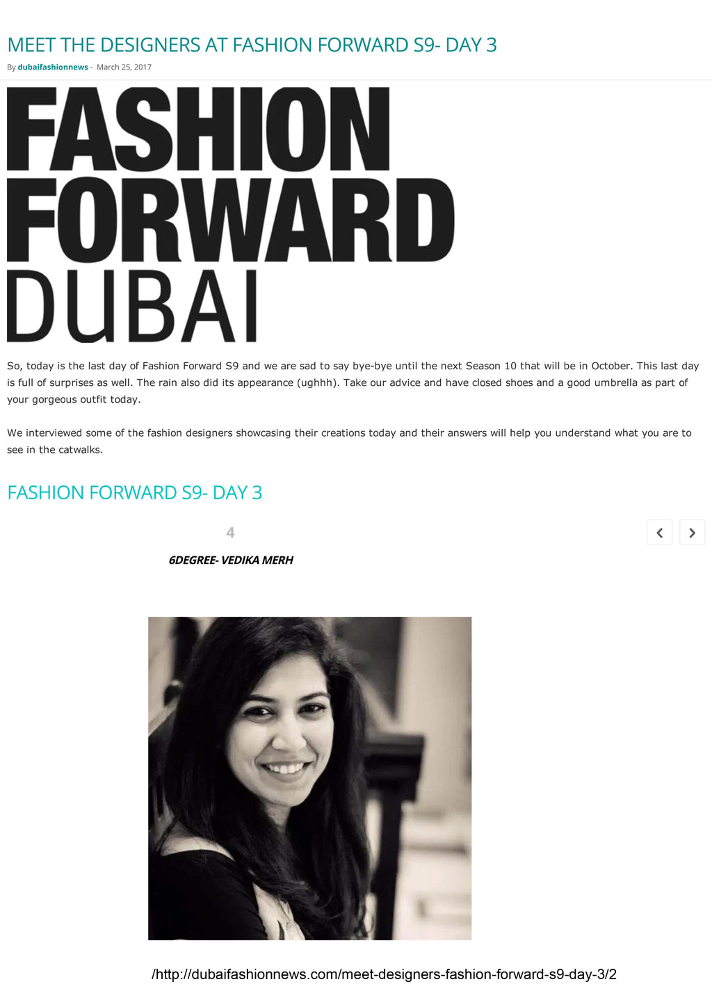 Dubai Fashion News