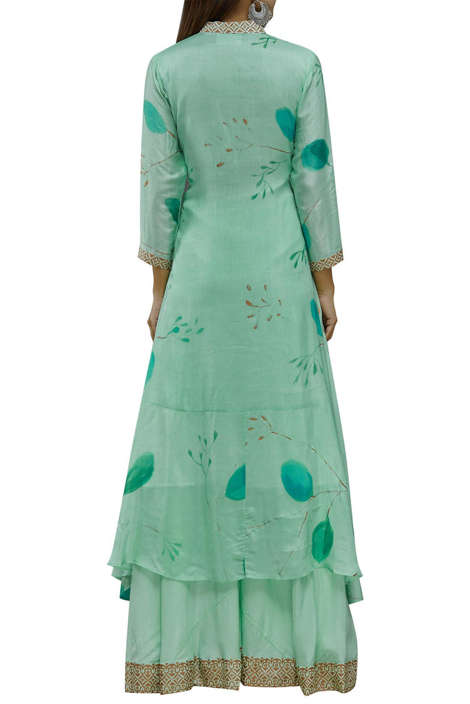 Hand Painted Floral Asymmetric Kurta Set