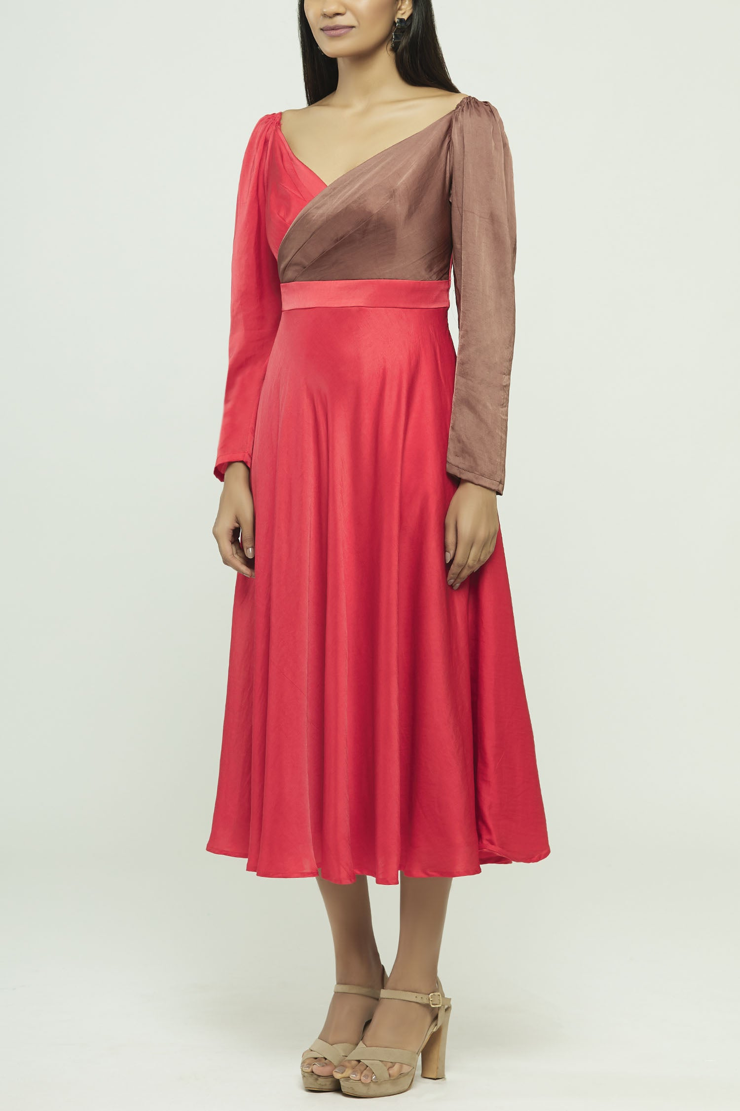 Solid Dyed Midi Dress