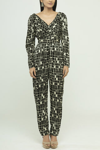 Jumpsuit With A Pleated Yoke