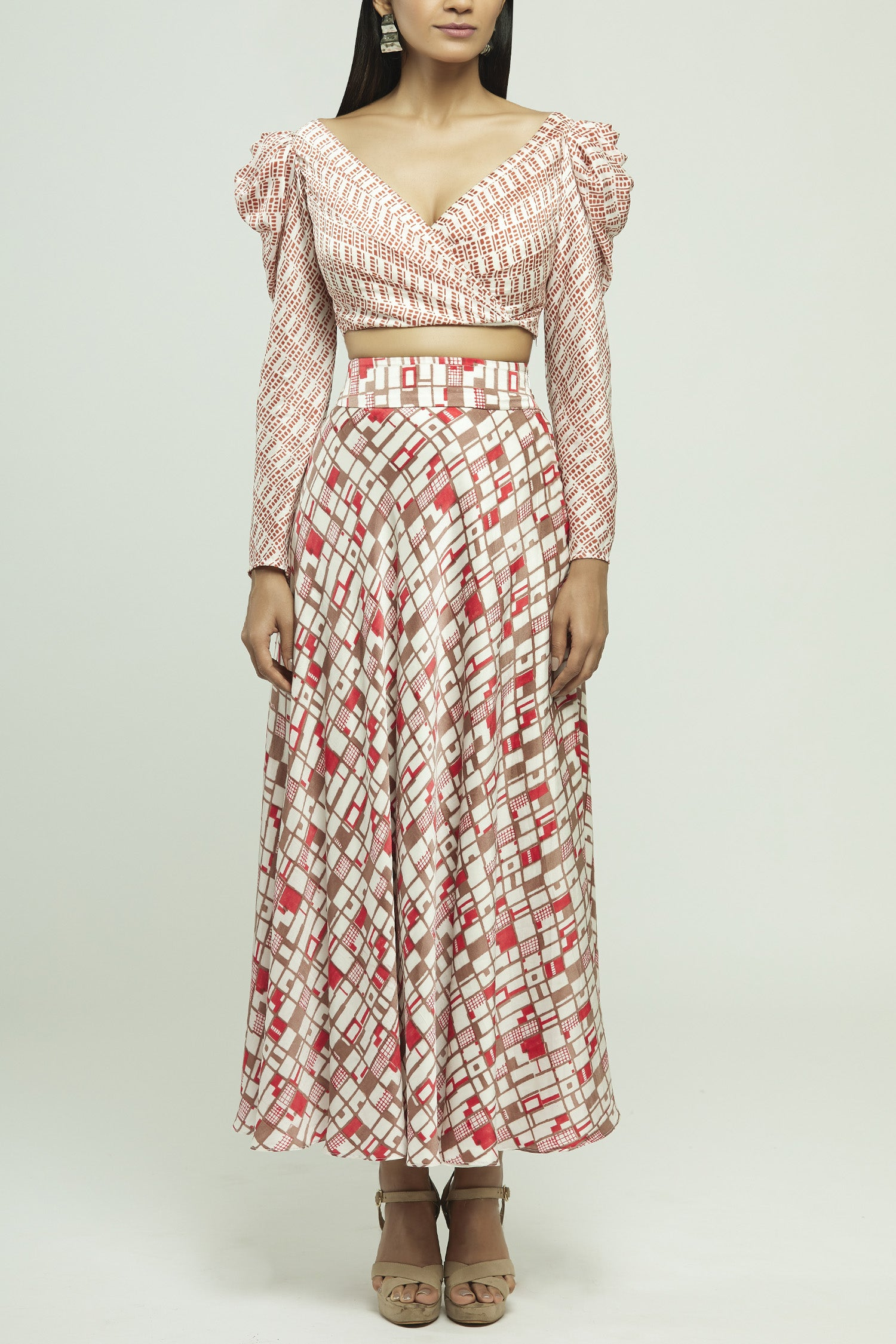 Block Printed Skirt Set
