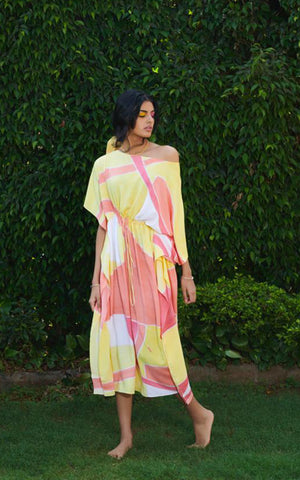 Abstract Hand Painted Saree