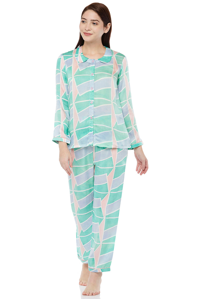 Block Printed Pyjama Set