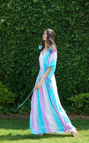 Hand Brush Painted Kaftan