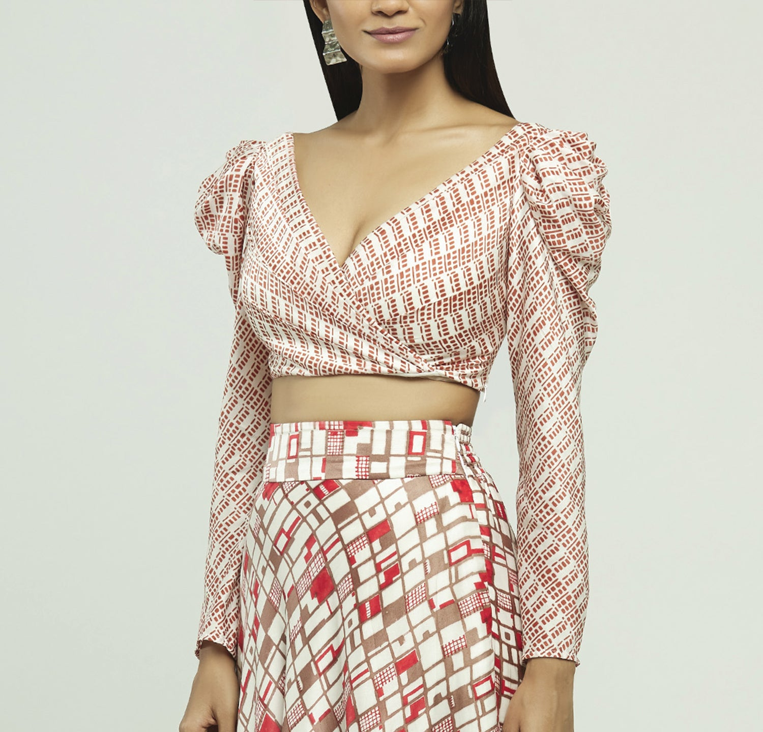 Block Printed Crop Top