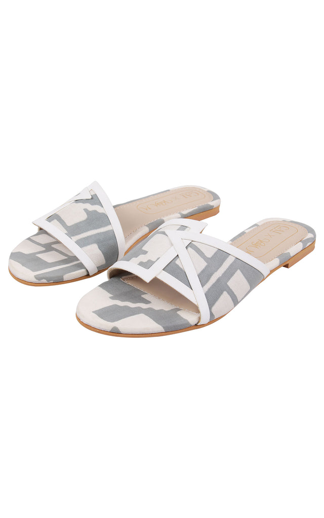 Grey Geometric Overlap Sliders
