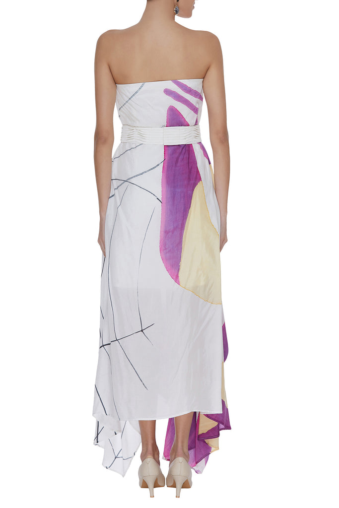 Hand Painted Tube Draped Dress