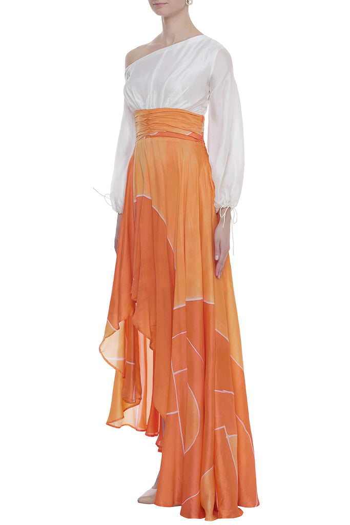Hand Brush Painted Long Dress