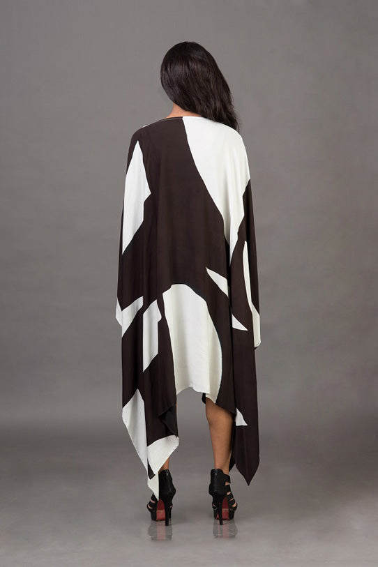 Draped Asymmetrical Hemline Outerwear