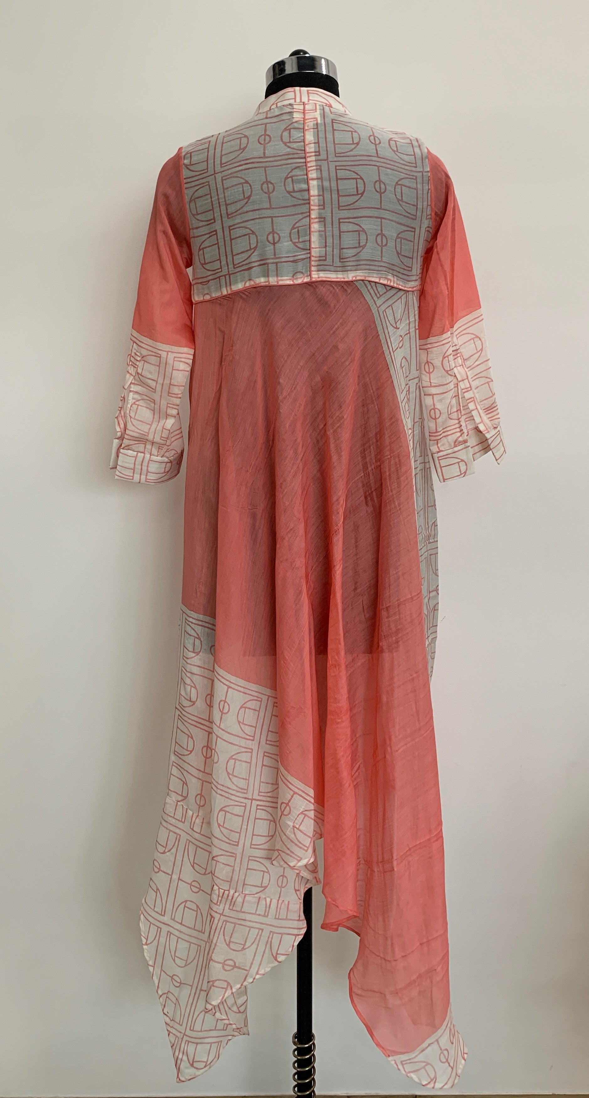 Block Printed Asymmetric Long Dress