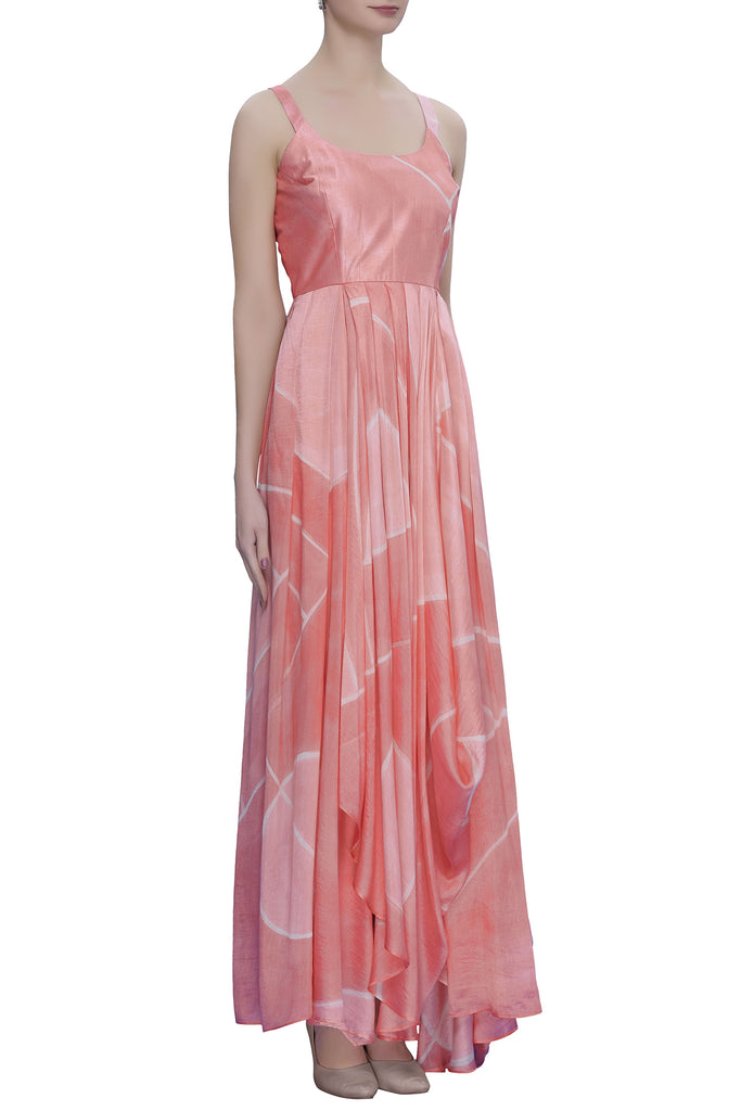 Hand Brush Painted Drape Maxi Dress