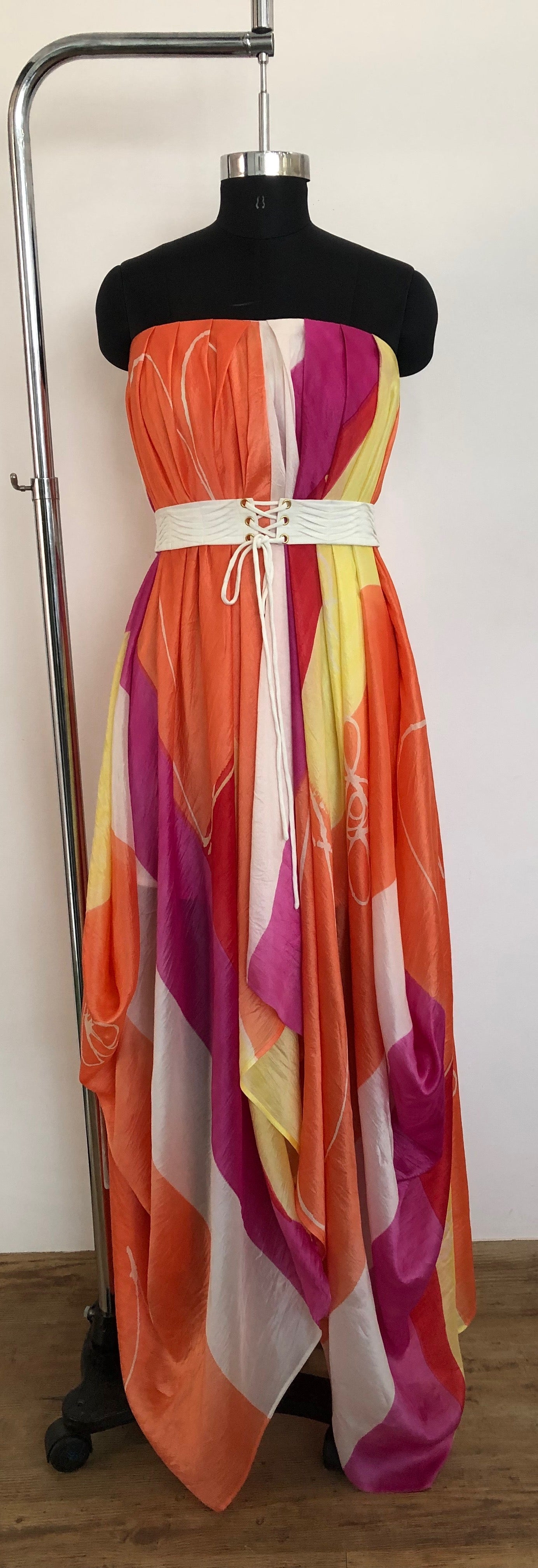 Handbrush painted Long Dress
