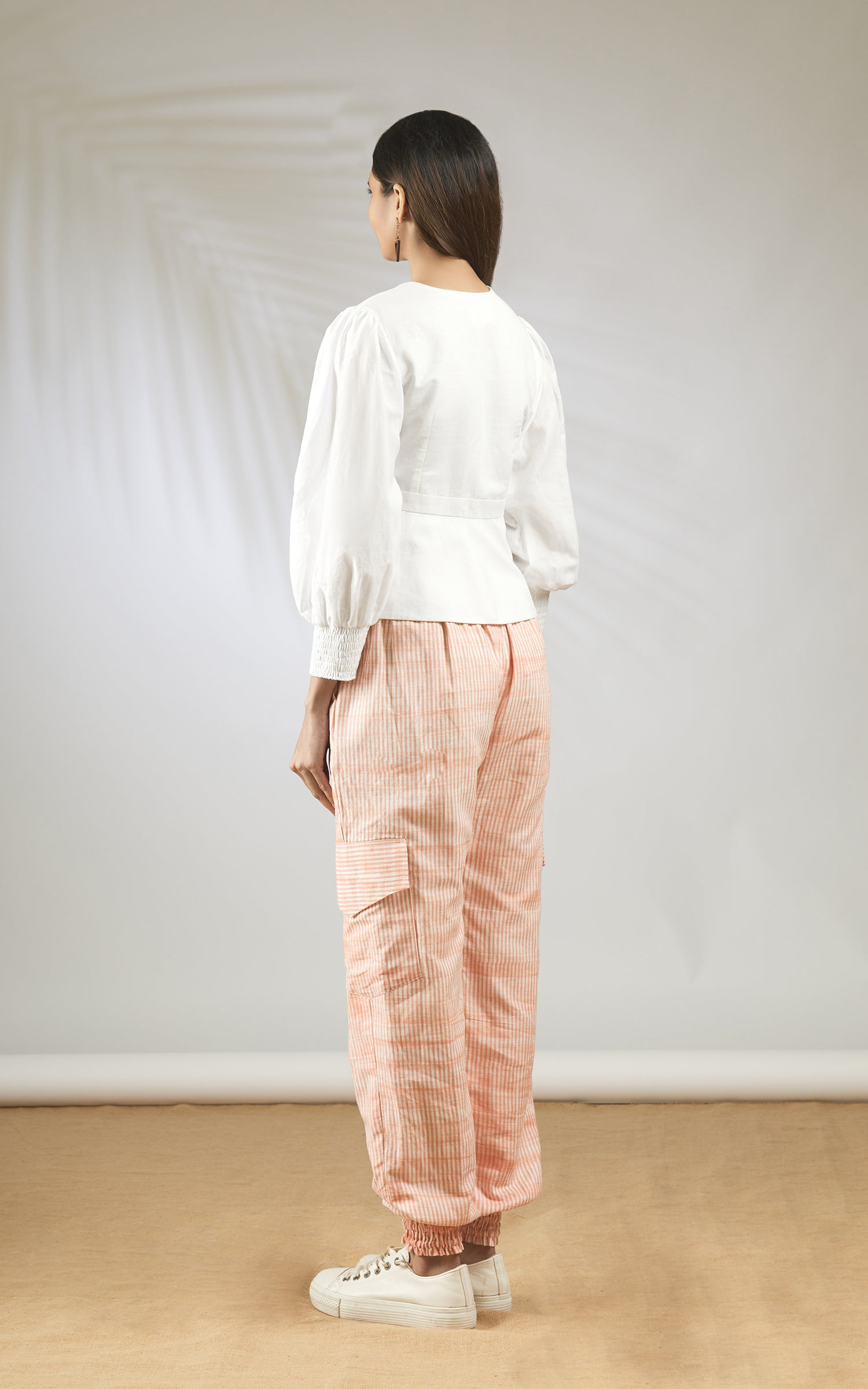 Block Printed Pants Set