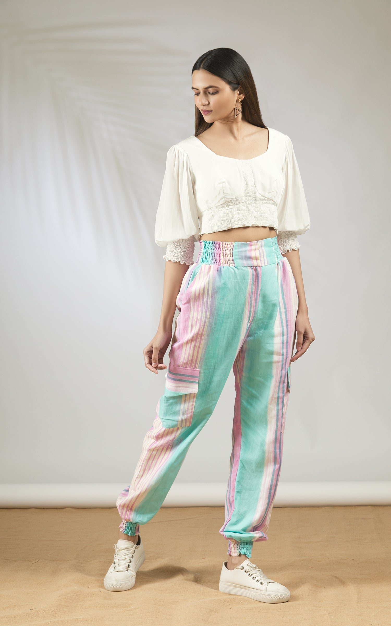 Hand Brush Painted Pants Set