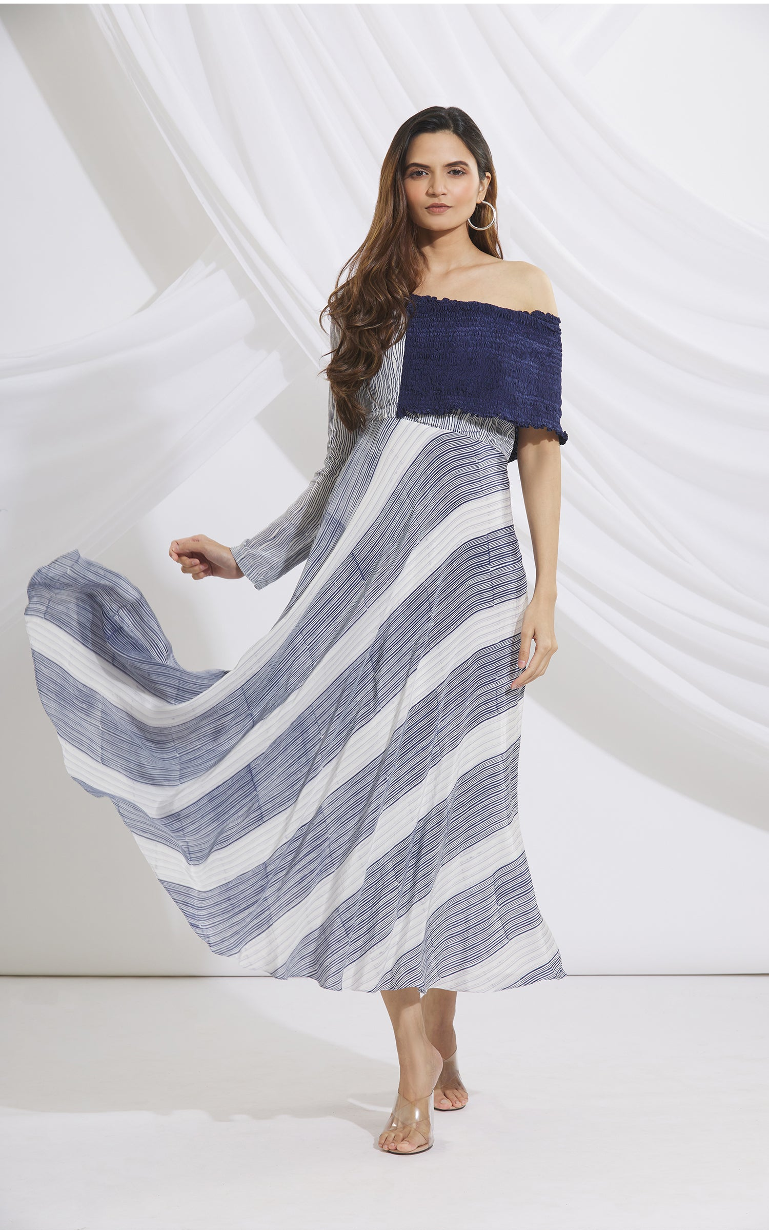 Block Printed Long Dress