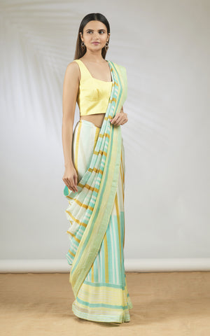 Hand Brush Painted Sari