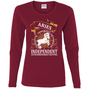 Aries Ladies Design 1 Long Sleeve T-shirt