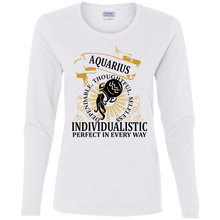 Aquarius Ladies Design 1 Long Sleeve T-shirt
