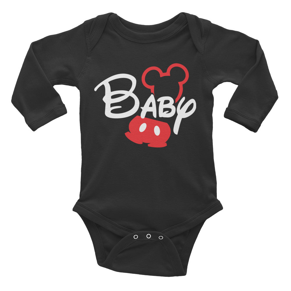 Baby Boy Mickey Long Sleeve Bodysuit